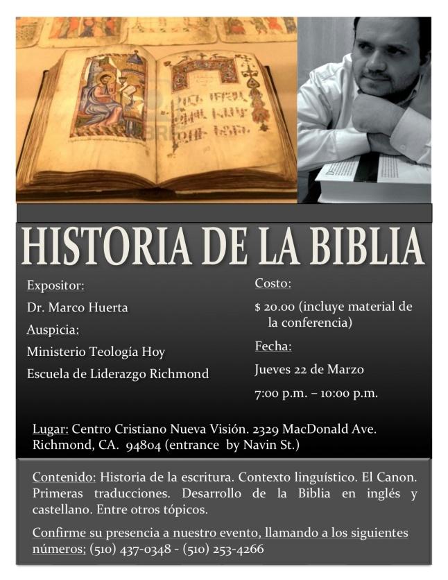 HISTORIA DE LA BIBLIA I